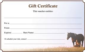 gift certificates house cleaning gift certificate template able gift certificate the 1 resource for horse farms gift