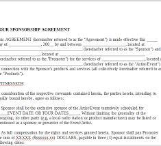 sponsorship agreement tour sponsorship agreement onlinemusiccontracts com
