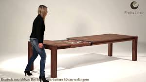 Modern Holztisch Ausziehbar Esstisch Youtube Massiv Eiche