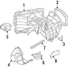 parts com® volkswagen touareg blower motor fan oem parts 2004 volkswagen touareg v6 v6 3 2 liter gas blower motor fan