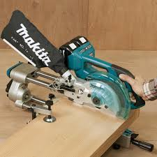 makita chop saw. makita dls714z twin 18v cordless brushless slide compound 190mm mitre saw chop