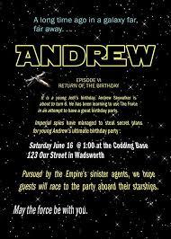Star Wars Birthday Party Invitations Templates Free