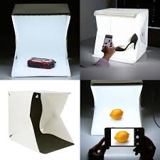 Foldable Photography Light Box Us 4 39 20 Off Creative Mini Folding Lightbox Led Light Room Photo Studio Softbox Photography Lighting Tent Kit Backdrop Cube Mini Light Box In