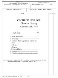 Equipment Checklist Inspiration Chenical Survey Also See AR Ppt Video Online Download