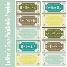 Father's Day Printable Coupon Book | Printable Calendar 2016 Free Father's Day Printable Coupon Book