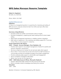 Resume Format For Bpo Experienced Professional Resume Templates