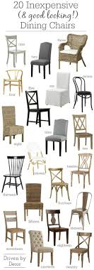 fabulous round up of inexpensive but stylish dining side chairs