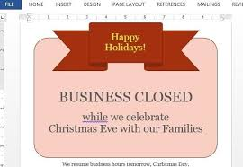 office will be closed sign template christmas closed sign printable christmas printables