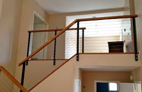Black Railing Posts modern-staircase
