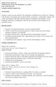 Resume Templates: Legal Assistant