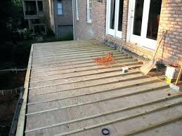 how to build a floating deck over a concrete slab floating deck over concrete patio floating
