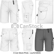 Short Templates Mens Bermuda Shorts Design Templates Front Back And Side Views