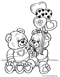 Small Picture valentines coloring pages Day A couple of teddy bears on