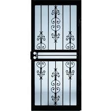 steel security doors. larson garden view black steel security door (common: 32-in x 81- doors o
