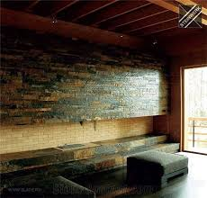 rustic slate stacked wall cladding