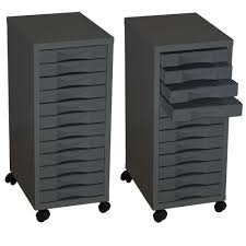 File Cabinets With Wheels 12 Drawer A4 Filing Cabinet With Wheels Black Staplesr