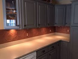 Copper Backsplash Kitchen Fake It Frugal Fake Punched Tin Backsplash Copper Copper Sheets