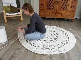crocheting an area rug giant doily rug crochet