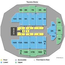Tacoma Dome Seating Chart Specific Map Of The Tacoma Dome 2019