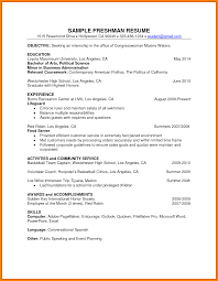 7 College Freshman Resume For Internship Graphic Resume