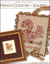 French Cross Stitch Charts French Country Squirrel Cross Stitch Chart