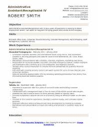 Sample Travel Management Resume Administrative Assistant Receptionist Resume Samples