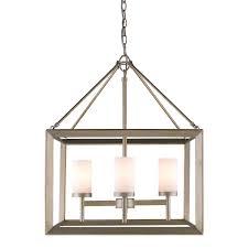 golden lighting 2073 4 wg 4 light chandelier white gold opal glass