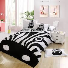 kids animal bedroom design with zebra print bedding set character duvet pattern type character