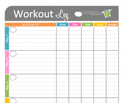 fitness timetable template template cute timetable template telemarketing resume sample