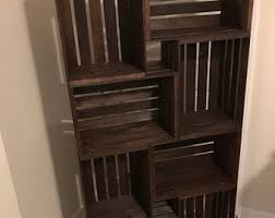 wooden crate furniture. Wooden Crate Bookshelf (local Only, Will Not Ship). Furniture