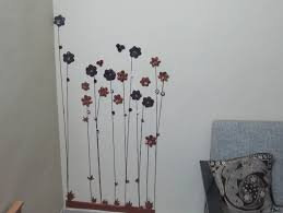 flower cute wall decor with paper