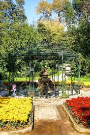 the beautiful flowers and rich nature of the national garden