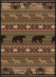 nature themed area rugs awesome bear rugs nature deer and bear rug collection black