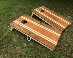 Wooden Corn Hole Game Cornhole boards Etsy 24