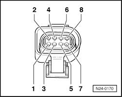volkswagen workshop manuals > golf mk3 > power unit > simos separate 8 pin connector to throttle valve control part