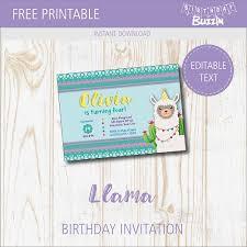 Free Printable Llama Birthday Party Invitations Birthday