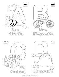 Alphabet Coloring Sheets French Pages Letters To Print Az Pdf