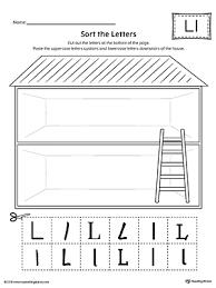 Sort the Upper and Lowercase Letter L Worksheet