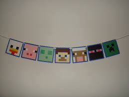 Minecraft Party Decorations Minecraft Birthday Party Supplies Buscar Con Google Minecraft