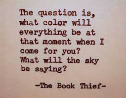 The Book Thief Quotes Inspiration Color Quotes The Book Thief Quote Literary Quote Color Sky By