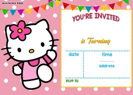 Hello Kitty Party Invitation Free Hello Kitty Invitation Templates Hello Kitty Birthday
