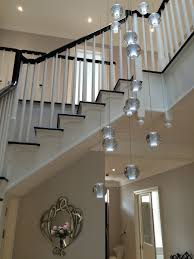 modern stairwell lighting. bocci style stairwell chandelier modern lighting