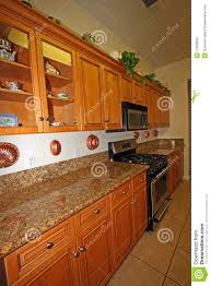 Modern Wooden Kitchen Cabinets Modern Wood Kitchen Cabinets Royalty Free Stock Images Image