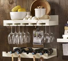 wine glass rack pottery barn. Holman Entertaining Shelves - Pottery Barn (they Also Come In Black \u0026 Expresso Stains). Wine Glass Shelf Rack