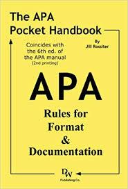 Amazon Com The Apa Pocket Handbook Rules For Format