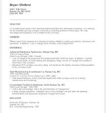 Resumes Career Objective Examples Simple Resume Format