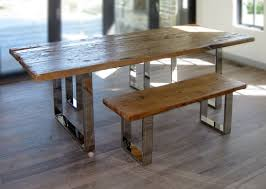 modern reclaimed wood furniture. Custom Made Modern Reclaimed Wood Table And Benches Throughout Furniture CustomMadecom