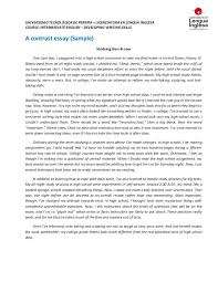 example of comparing and contrasting essays compare contrast essay examples college thekindlecrew com