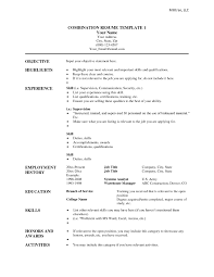 Resumes Templates Word Combination Resume Template Word Resume Templates Combination Resume 15