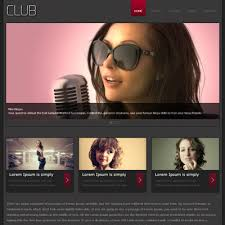 Photography Website Templates Stunning Club Free Responsive HTML48 CSS48 Mobileweb Template